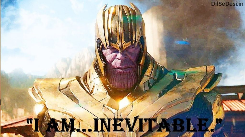 Marvel's Avenger Best Thanos Quotes, Dialogue, Status & Images in Hindi (10)