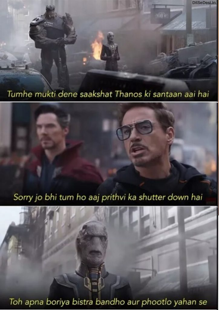 Marvel's Avenger Best Thanos Quotes, Dialogue, Status & Images in Hindi (13)