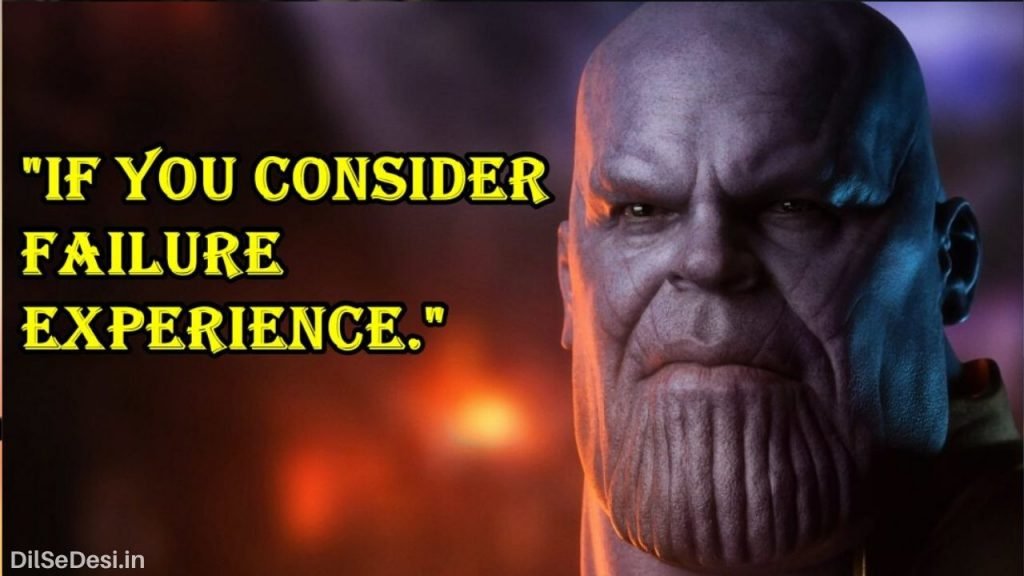Marvel's Avenger Best Thanos Quotes, Dialogue, Status & Images in Hindi (19)