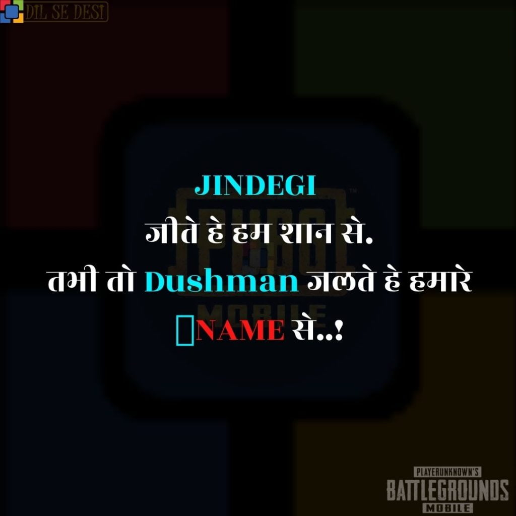 Best PUBG Status, Shayari, Quotes Images in Hindi (5)